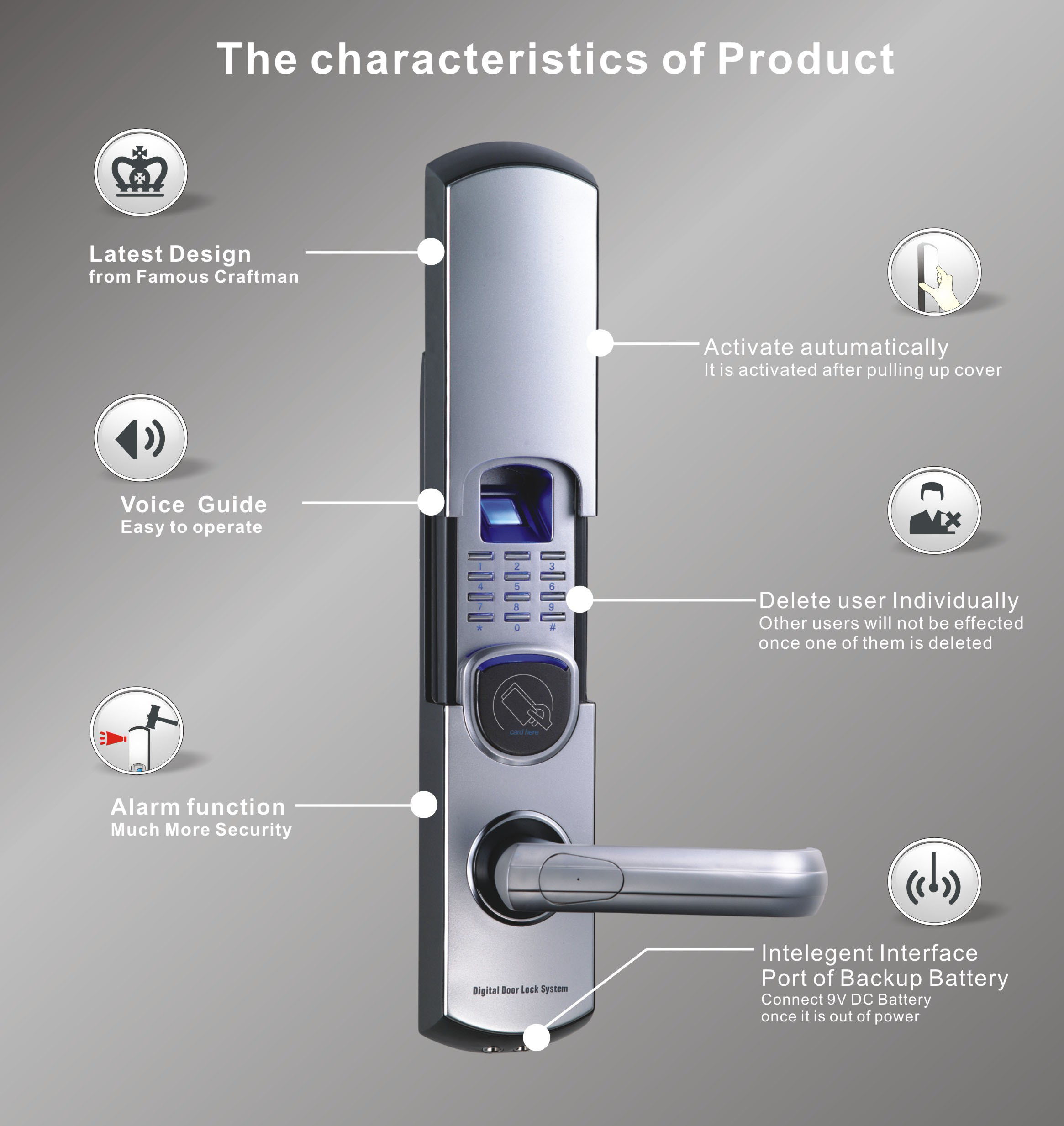 Biometric Fingerprint Door Lock Rtfl 03s
