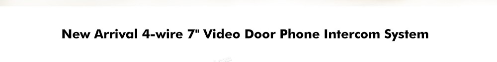 "Video Camera Door Phone Video Door Phone Intercom System 7"" Color Record Metal Casing Camera 800 TVL with IR Leds"