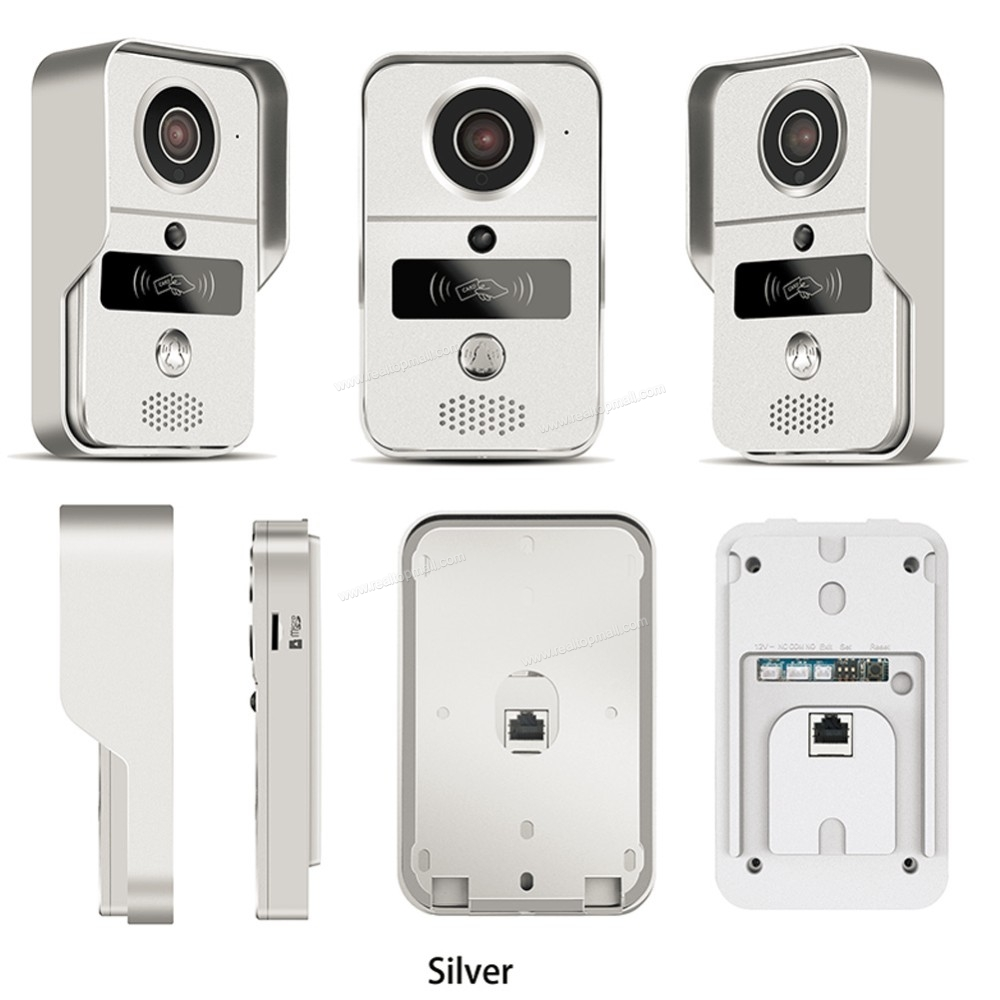 Wireless SD Card Video Recording Video Door Phone+RFID Keyfobs+Indoor Bell Wifi IP Door Bell POE Camera