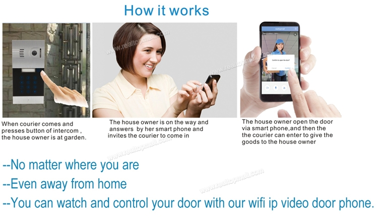 Touch IP wifi global video door phone WiFi intercom system two way intercom and remotely unlock door | wireless intercom system